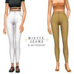 MIETTE JEANS as requested from some anons after making this post here are the parenthood floral jeans deflowered, skinny & high waisted! sorry they're super basic but please enjoy :-) • comes in some...