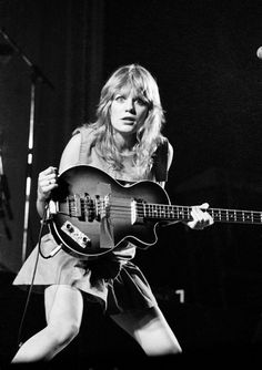 Tina Weymouth of the Talking Heads. 1980s
