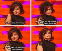 Helena Bonham Carter on parenting.. Yes.. this.. just this.. BEST Parent ever!