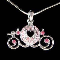 Looking for Cute Pink Swarovski Crystal Pumpkin Cinderella Carriage Necklace? Compare prices for Cute Pink Swarovski Crystal Pumpkin Cinderella Carriage Necklace, find the best offer in hundreds of online stores! Cinderella Sweet 16, Cinderella Wedding, Wedding Gifts For Bride, Bride Gifts, Wedding Ideas, Cinderella Pumpkin Carriage, Disney Inspired Fashion, Cute Jewelry, Jewlery