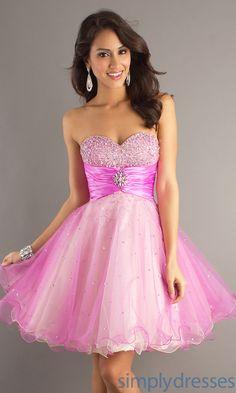 Short Strapless Sweetheart Dress DJ-6918  Cute!!!!