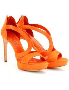 mytheresa.com - Alexander McQueen - SUEDE PLATFORM SANDALS - Luxury Fashion for Women / Designer clothing, shoes, bags