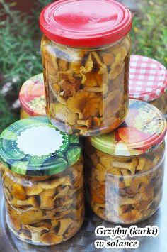 Polish Recipes, New Recipes, Polish Food, Canning Recipes, Preserves, Pickles, Mason Jars, The Cure, Stuffed Mushrooms