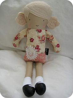 Doll with Doiley by dee*construction, via Flickr