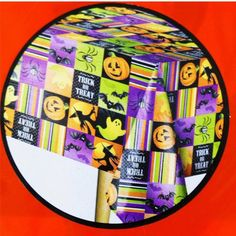 HALLOWEEN PUMPKIN GHOST WITCH~Vinyl Tablecloth~Flannel Back~52x70 Rectangle~NEW #Unlisted