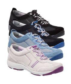 Helen from Dansko is a lightweight walking shoe with a sporty style!