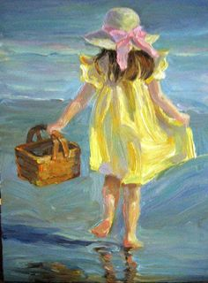Bilderesultat for yellow dress painting Dress Painting, Figure Painting, Painting & Drawing, Dress Drawing, Paintings I Love, Beautiful Paintings, Pastel Paintings, Art And Illustration, Painting People