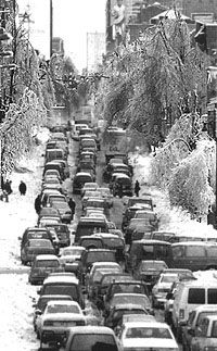 Ice Storm in Maine, 1998.  Not sure where this picture was taken.