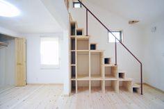 Kast onder trap: Info, Prijzen & Inspiratie voor een trapkast Loft Stairs, Open Trap, Industrial Loft, Staircase Design, Ikea Hack, Man Cave, Sweet Home, Interior Design, Architecture