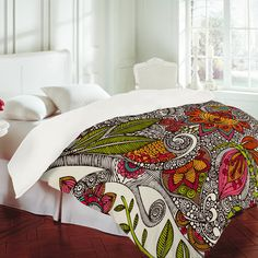 Zentangle Duvet cover - I WANT THIS! Love the fabric...Where can I find it?