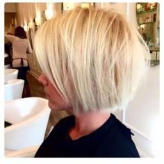 short blonde bob haircut