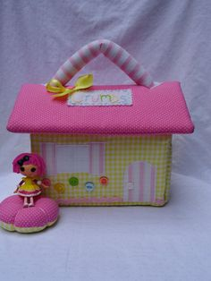 Lalaloopsy fabric dollhouse, Crumbs Sugar Cookie inspired for mini lalaloopsy dolls //Made To Order