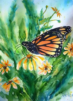 exquisite beauty of the  monarch butterfly by AffordableARTbyRonda