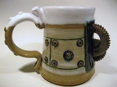 Steampunk ceramic cofffee mug