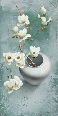 coloryoursoulalways: 박철환 (Park Chul-hwan) 목련 (Magnolia) Acrylic on canvas