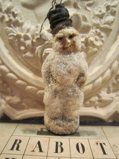 CBS Hänger Schneemann Christmas Ornament Noel Frankreich JDL BROCANTE Unikat in Sammeln & Seltenes, Saisonales & Feste, Weihnachten & Neujahr | eBay