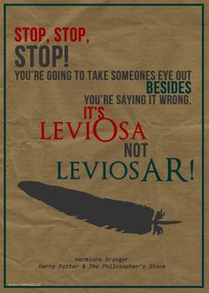 Hermione Granger Spell Quote | Literally just thought the feather at the bottom was a carrot before I read the quote :/
