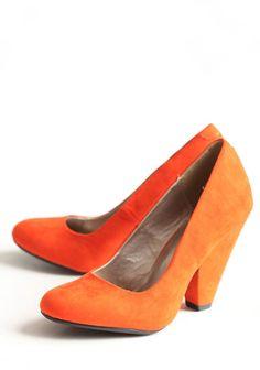 #fall Blissful Season Pumps In Orange