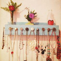 Porta collares #DIY #Moda decoración de interiores #Hogar