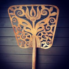 Hand held plasma cut shovel.