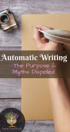 The many benefits of automatic writing and the myths about it dispelled by trance channel Lori Camacho