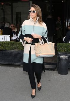 Jessica Alba pulls out a Chloe look while in New York.