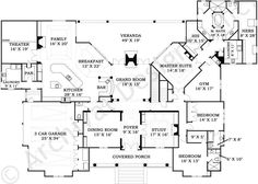LaCrysta Place House Plan - First Floor Plan
