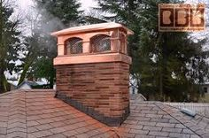 Beautiful Cedar Roof Stone Chimney With A Custom Made