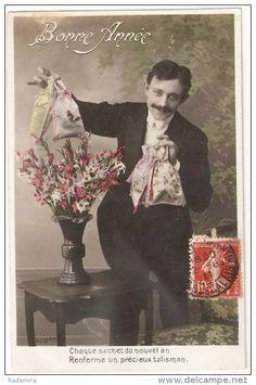 "Carte Postale Ancienne ""Cadeau"" France 1909."