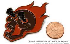 """Sithrak Pin   Way things are going, this pin can probably get you out of trouble at some point.   A big, enamel pin! Almost 2"""" tall. Has two of those stabby pinbacks on the back.. what are they called? Clasps?"""