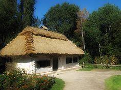 old typical Ukrainian hut