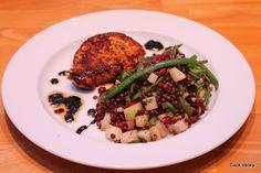 cookvalley - tanker om mad: Belugalinser med glaskål, grønne bønner og granatæblekerner