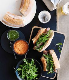 Char-grilled chorizo rolls with two sauces :: Gourmet Traveller