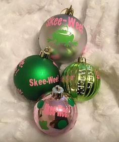 Sisterhood Skee Wee Shatterproof ornament set by AddiCakeCreations on Etsy