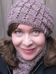 Pamper yourself this winter and knit yourself up a Lazy Day Lace Hat.
