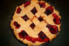 The Best Cherry Pie Ever (1) From: My Happy Crazy Life (2) Webpage has a convenient Pin It Button