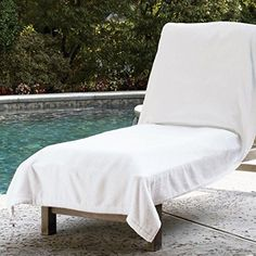 Sferra Santino Terry Towel Lounge Chair Cover >>> Details can be found by clicking on the image.