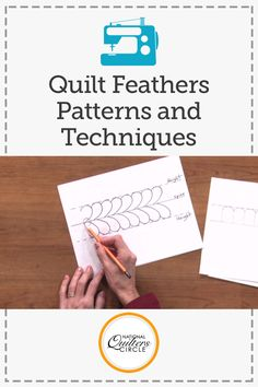 Add quilt feathers to your next quilt with this instructional video from National Stitching Circle. Quilting Stencils, Quilting Room, Quilting Tips, Free Motion Quilting, Quilting Tutorials, Quilting Projects, Quilting Stitch Patterns, Machine Quilting Designs, Quilt Stitching