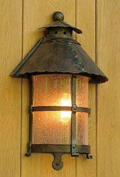 Medieval Wrought Iron Half Lantern WL 3459 by Robers Leuchten
