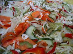 KataKonyha: Csalamádé Hungarian Cuisine, Caprese Salad, Cabbage, Vegetables, Food, Essen, Cabbages, Vegetable Recipes, Meals