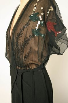 Evening Dress, Gilbert Adrian (American, Naugatuck, Connecticut 1903–1959 Hollywood, California): 1945, American, silk, rayon.