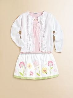 Hartstrings - Toddler's & Little Girl's Floral Sateen Skirt - Saks.com