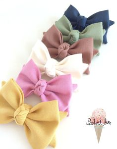 PICK 2 Baby Bow Headband or Hair Clip Knot by SherbertLane, $18.00