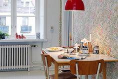 Bilder, Kök/matplats, Lampa, Matbord, Tapet - Hemnet Inspiration
