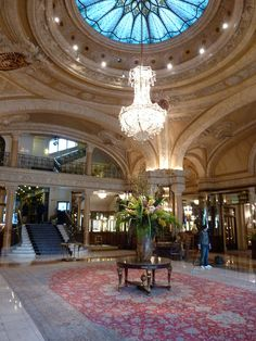 Hotel De Paris Monte Carlo Monaco Lobby, France   Are You Staying Here----NO-----Please Leave!!!!! WELLLLLL