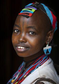 Tsemay Tribewoman, Key Afer, Omo Valley, Ethiopia by Eric Lafforgue
