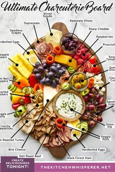 Be a Hosting Guru with this Ultimate Charcuterie Board! Charcuterie Recipes, Charcuterie And Cheese Board, Charcuterie Platter, Charcuterie Display, Cheese Boards, Meat And Cheese Tray, Meat Trays, Oven Roasted Turkey, Party Food Platters