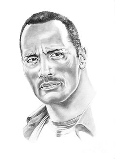 The Rock ~ Dwayne Johnson by Murphy Elliott ~ traditional pencil art