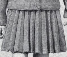 Girl's Knife Pleated Skirt Pattern