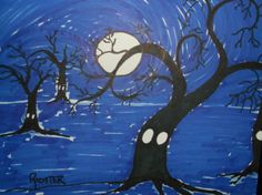 Drawing: Spooky Night by Rodster - ink on card stock